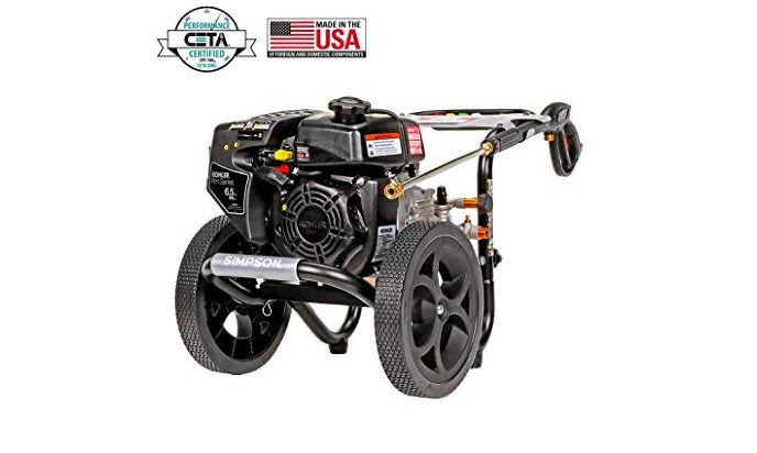 Simpson Cleaning MS60763-S 3100 Psi at 2.4 GPM Gas Pressure Washer Powered Kohler RH265 OHV Engine