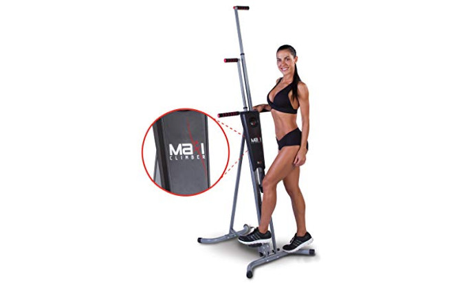 """maxi Climber(r) - the initial proprietary Vertical Climber, """"As Seen On TV"""" - Full Body sweat with BONUS Fitness App for IOS and robot"""